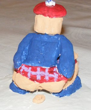 Scottish Caganer (rear view)