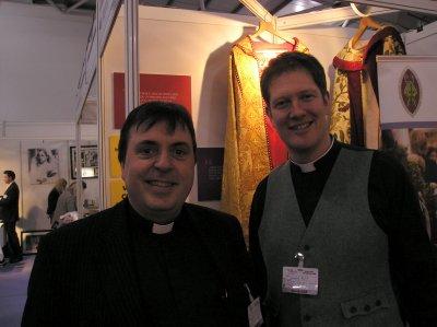 Raspberry Rabbit & Fr Jeremy at the Wedding Show