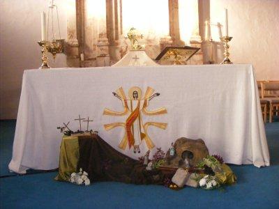 Easter Garden and Altar