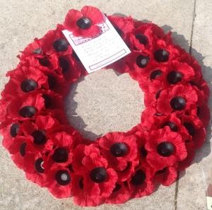 DDay Ranville poppy wreath