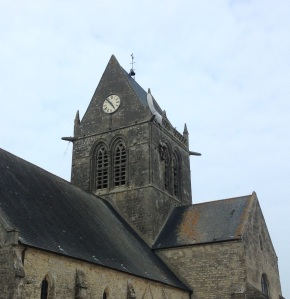 DDay St Mere Eglise belltower