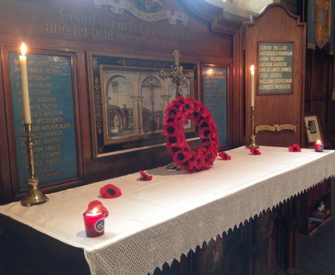 Remembrance Requiem altar2014