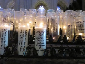 Candle at St John the Divine