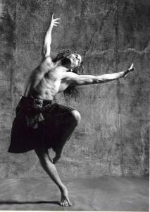 man dancing in kilt