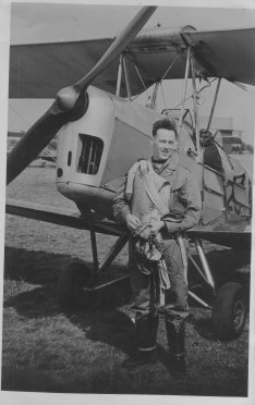 Dad and tiger moth 1952