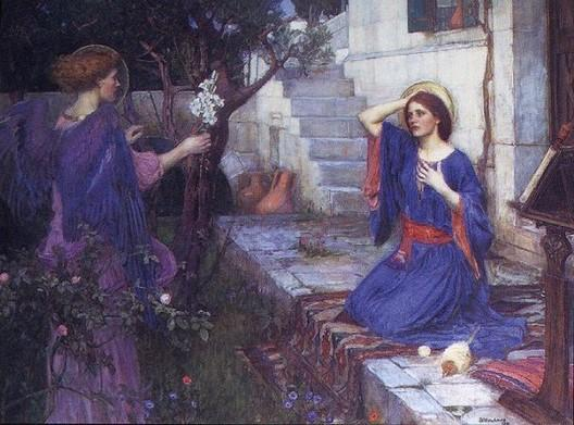Annunciation John-William-Waterhouse 1914