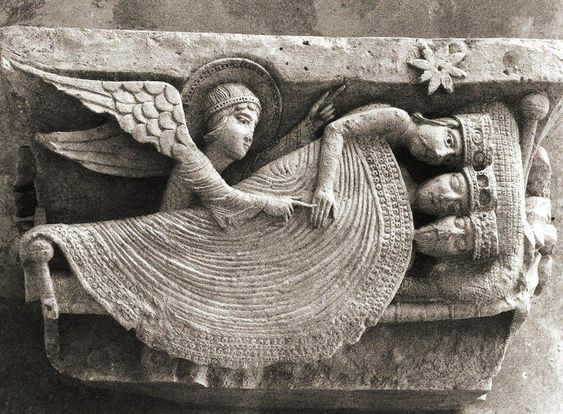The Sleep of the Kings, Gislebertus 12th c, Autun, Cath of Saint-Lazare